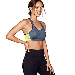 Shock Absorber - Grey 'Ultimate Fly' non-wired moulded cups sports bra