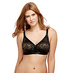 Playtex - Black lace 'Ideal Beauty' non-wired non-padded full cup bra