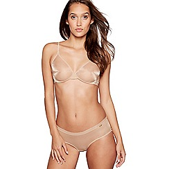 Gossard - Natural mesh 'Glossies' underwired non-padded plunge t-shirt bra