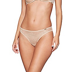 Gossard - Natural lace 'Glossies' bikini knickers