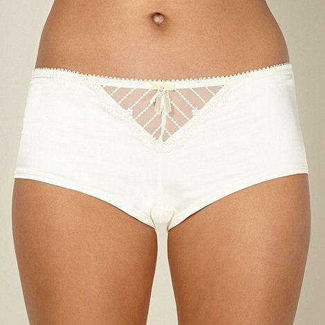 Ultimate - Ivory diamante flower shorts