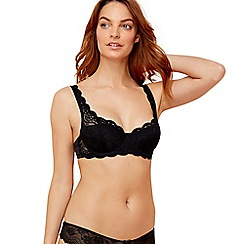 Triumph - Black lace 'Amourette 300' underwired padded balcony bra