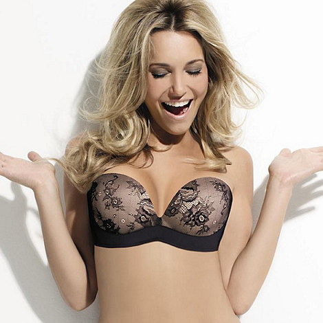 Wonderbra - Black lace +Ultimate+ strapless bra