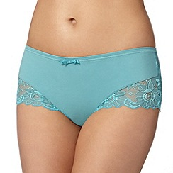 Spirit - Green supima cotton and lace brazilian brief