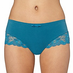 Spirit - Turquoise supima cotton and lace brazilian brief