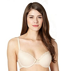 Debenhams - Natural mesh lace t-shirt bra