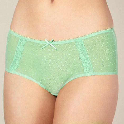 Debenhams - Light green mesh lace shorts