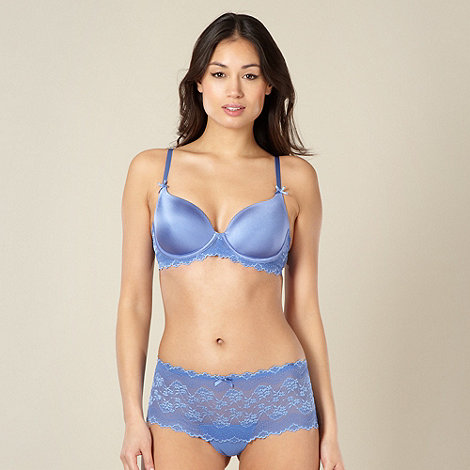 Debenhams - Blue lace wing t-shirt bra