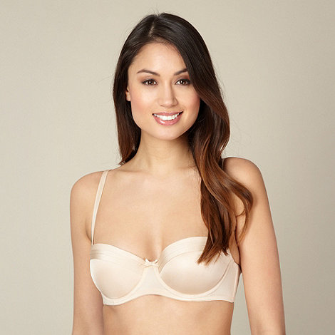 Debenhams - Natural double cuff push up bra