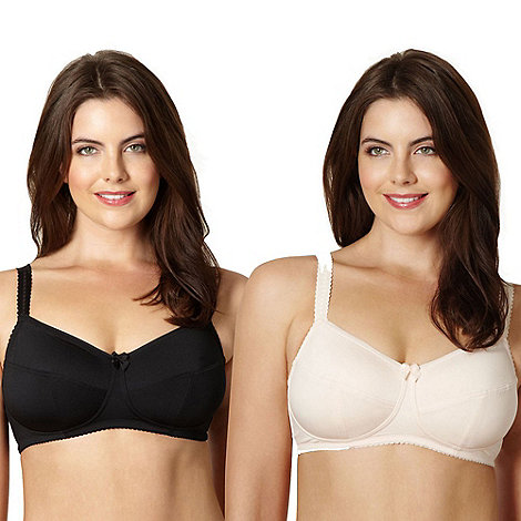 Miriam Stoppard Nurture - Pack of two black C-G non wired maternity bras