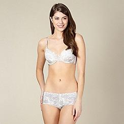 Debenhams - Grey lace printed seamless t-shirt bra