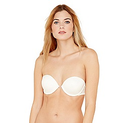 Debenhams - Ivory lace convertible strapless bra
