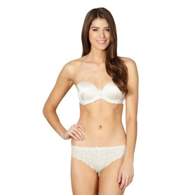 Ivory strapless lace bra