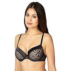 Debenhams - Black jacquard mega gel push-up bra