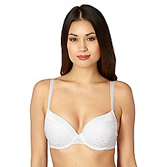 Debenhams - White jacquard mega gel push-up bra