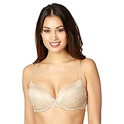Debenhams - Natural jacquard mega gel push-up bra