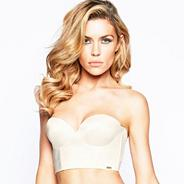 Ivory low back strapless