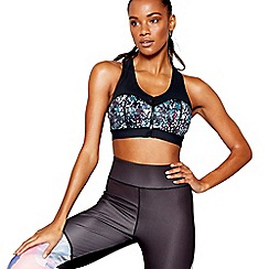 The Collection - Multi printed non-wired padded sports bra