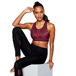The Collection - Plum non-wired non-padded sports bra