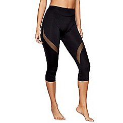 Shock Absorber - Black cropped sports leggings