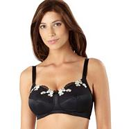 Black embroidered non padded mastectomy bra