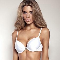 Gossard - White 'Superboost' plunge bra