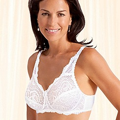 Playtex - White Flower Lace non-wired bra