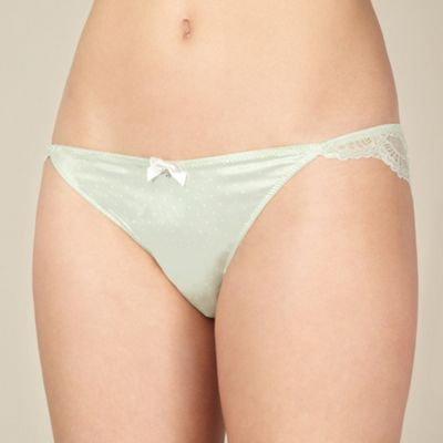 Light green polka dot brazilian briefs