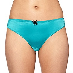 Ultimate - Blue lace satin brazilian brief