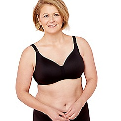 Spirit Post Surgery - Black non-wired comfort t-shirt mastectomy bra