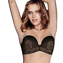Playtex - Black ultimate strapless lace bra