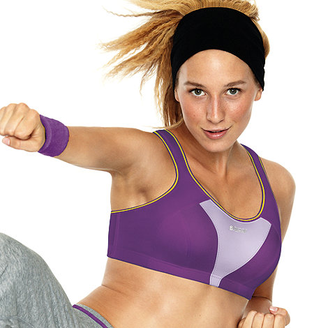 Shock Absorber - Purple +Active+ extreme support sports bra