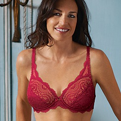 Playtex - Red floral lace underwired bra