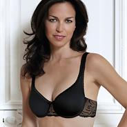 Black embroidered 'Absolute Comfort' bra