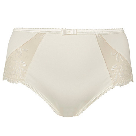 Playtex - Cream embroidered +Absolute Comfort+ midi briefs