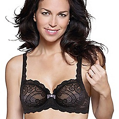 Playtex - Black 'Invisible Elegance' underwired lace bra