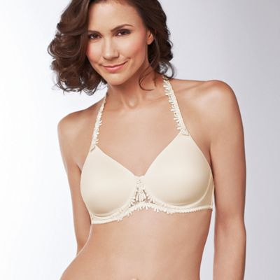 Amoena Natural ´Lea´ lace trim multiway post surgery t-shirt bra - . -