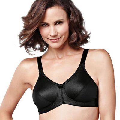 Amoena Black ´Rita´ smooth control non wired post surgery bra - . -