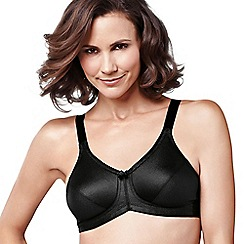 Amoena - Black 'Rita' smooth control non wired post surgery bra