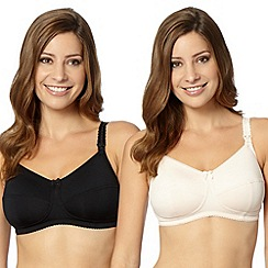 Miriam Stoppard Nurture - Pack of two black C-H nursing bras
