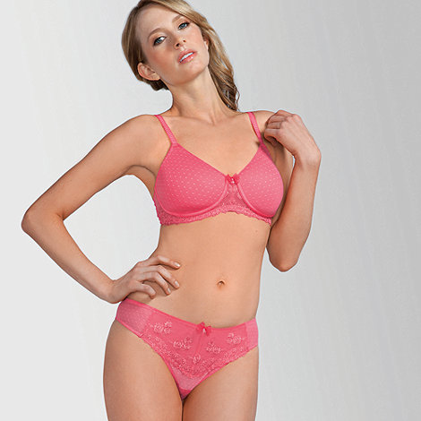 Amoena - Pink +Lara Lace+ non wired T-shirt -post surgery bra