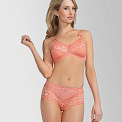 Amoena - Peach 'Karla' pretty lace underwired post surgery bra