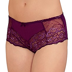 Amoena - Dark Berry 'Karla' lace briefs