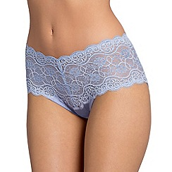 Triumph - Light blue 'Amourette 300' lace maxi briefs