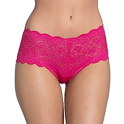 Triumph - Bright pink 'Amourette 300' lace maxi briefs