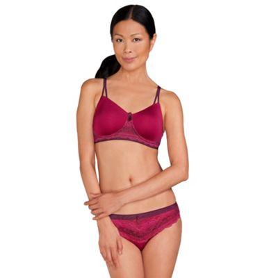Amoena Dark Berry ´Lara Lace Desire´ non wired post surgery bra - . -