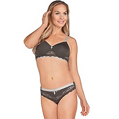 Amoena - Grey 'Lara Lace Desire' non wired post surgery bra