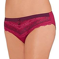 Amoena - Dark Berry 'Lara Lace Desire' briefs