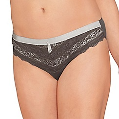 Amoena - Grey 'Lara lace Desire' briefs