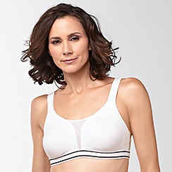 Amoena - White Mesh Performance Sports Bra